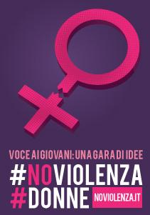 banner con simbolo di #Noviolenza #Donne - idee per fermare la violenza