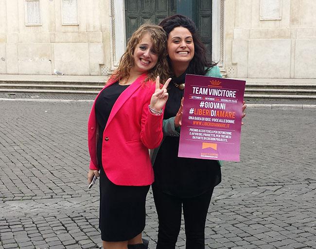 """Vincitrici del contest #Giovani #LiberiDiAmare. Progetto """"Love Sex Creative Express"""""""
